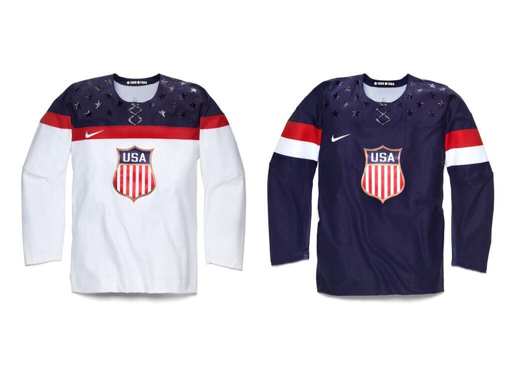 2014 USA hockey winter olympic jerseys