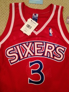 authentic vintage 76ers nba jersey