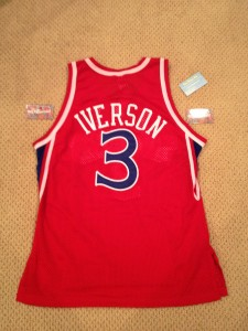 allen iverson authentic champion rookie jersey