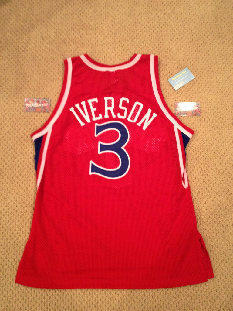 7d46ad9ae55 authentic allen iverson rookie jersey allen iverson authentic champion  rookie jersey new authentic champion nba jersey authentic vintage 76ers ...