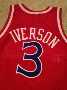 authentic allen iverson rookie jersey