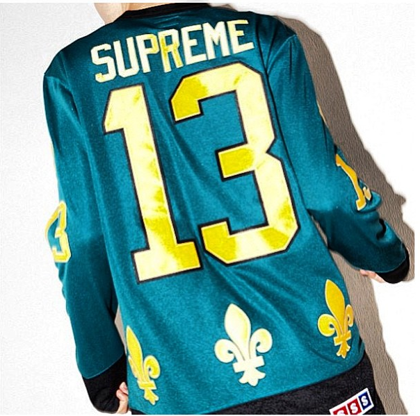 supreme quebec nordiques hockey jersey top teal
