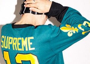 supreme fall winter 2013 hockey jersey top