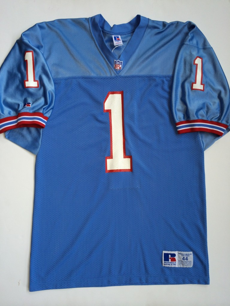 wholesale dealer 4c187 0b3a1 1992 Warren Moon Houston Oilers Authentic Russell NFL Jersey Size 44