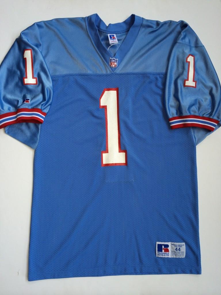 wholesale dealer df8e2 ea966 1992 Warren Moon Houston Oilers Authentic Russell NFL Jersey Size 44