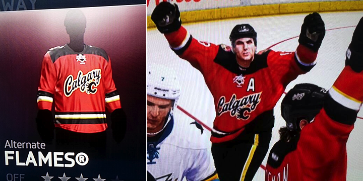 new concept a1d3a 86d69 NHL14 Video Game Leaks Calgary Flames New Third Jerseys ...
