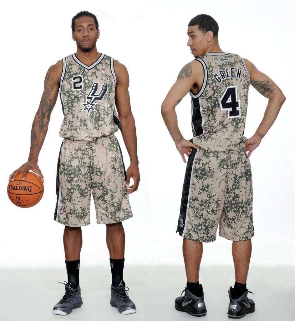 2014 San Antonio Spurs camo alternate uniforms