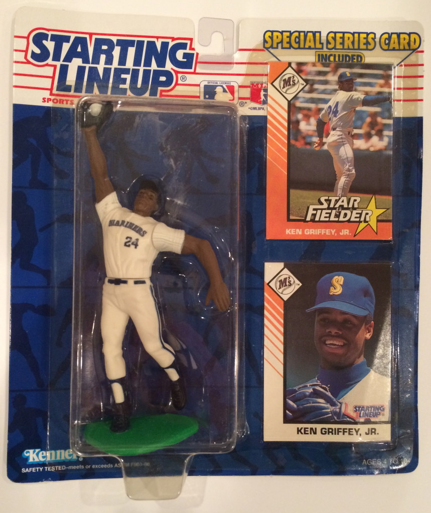 vintage 1993 kenner hasbro ken griffey seattle mariners starting lineup toy action figure