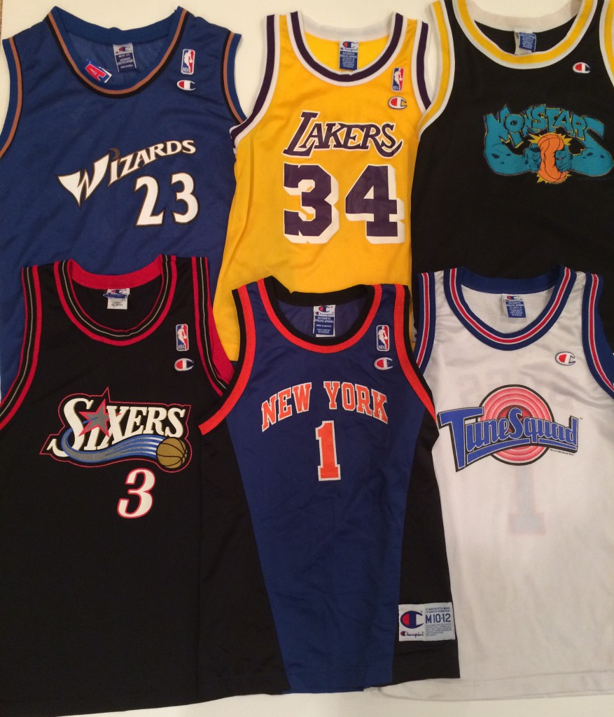 vintage champion nba jersey lot