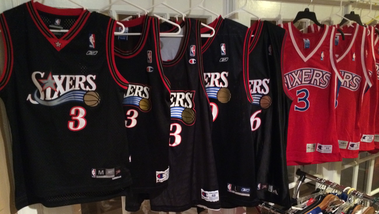 vintage philadelphia 76ers sixers basketball jersey collection history d4e2d27ef