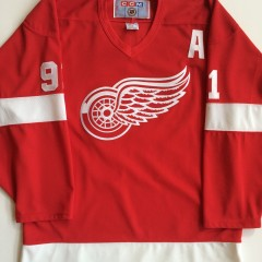 vintage fedorov redwings nhl hockey jersey medium