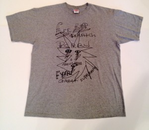 vintage supreme lee scratch perry t shirt size large