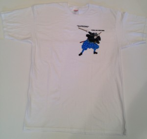supreme samurai t shirt size large musashi