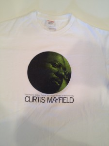 SUPREME curtis mayfield t shirt white size large