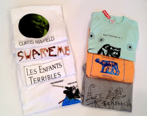 vintage supreme t shirts for sale