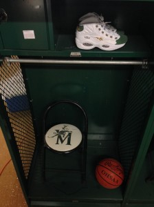 They put them in Lebron's high School locker!