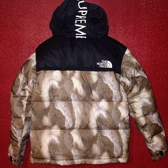 Supreme x TNF jacket 2013 faux mink release date