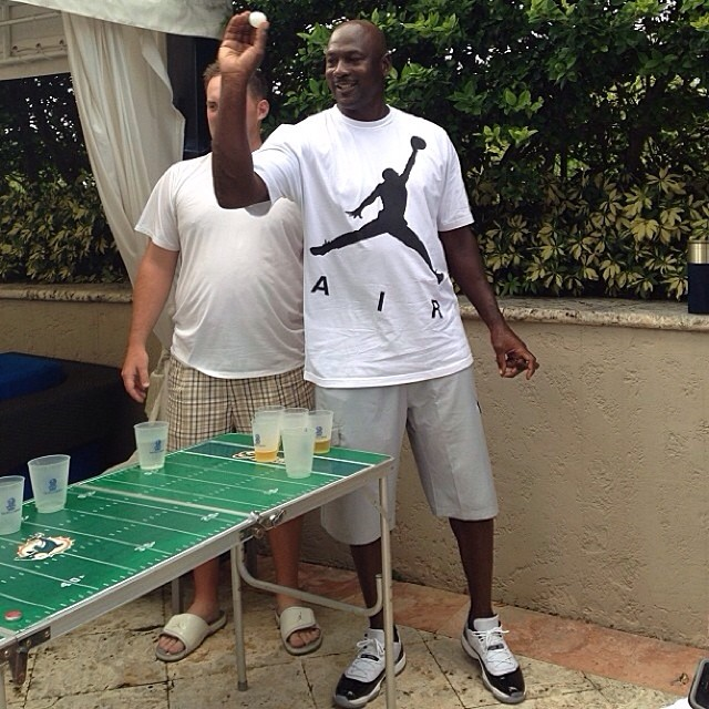 michael jordan playing beer pong in concord air jordan xi low