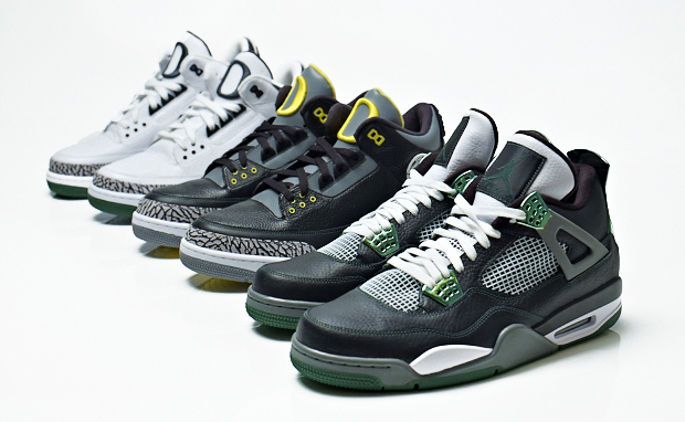 Air Jordan Retro III & IV Oregon Edition