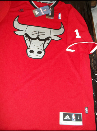 Chicago Bulls 2013 NBA Christmas big logo sleeved jersey