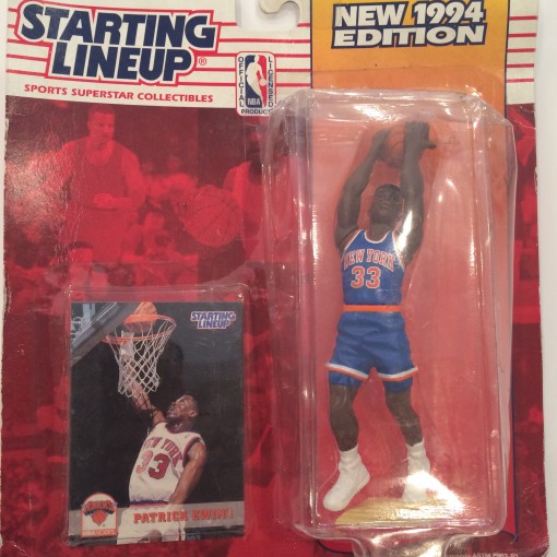vintage 1994 kenner hasbro patrick ewing new york knicks starting lineup toy figure