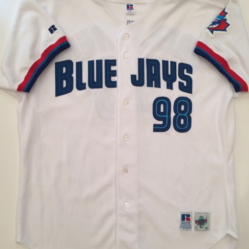 authentic toronto blue jays 1999 game worn mlb baseball jersey