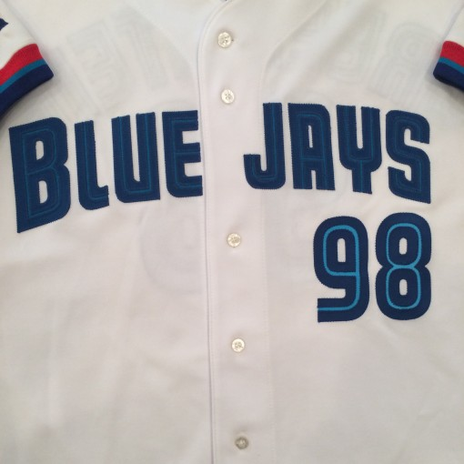 authentic toronto blue jays game worn mlb jersey