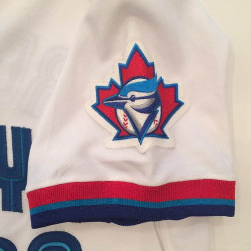 toronto blue jays game worn authentic mlb baseball jersey
