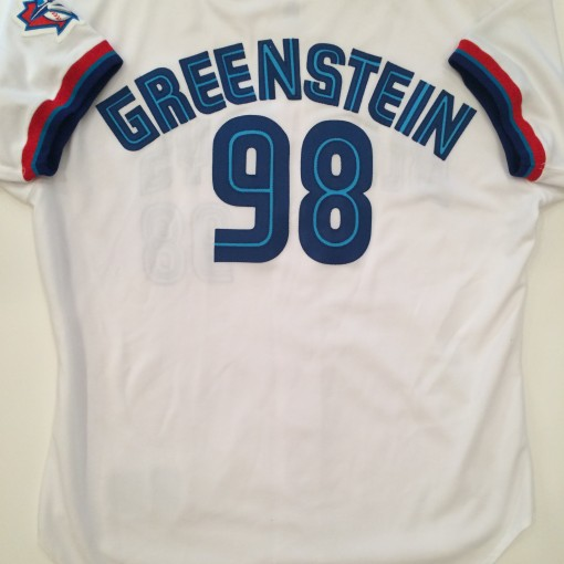 authentic greenstein game worn toronto blue jays mlb baseball jersey