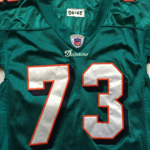 2003 miami dolphins game worn authentic reebok jersey