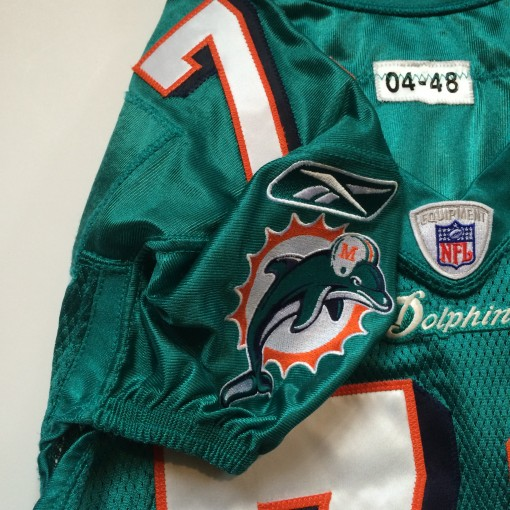 authentic billy yates miami dolphins game worn authentic jersey