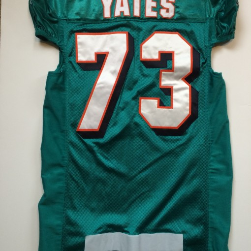 authentic billy yates game worn authentic miami dolphins jersey