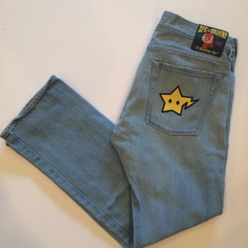 vintage a bathing ape bape jeans size small 31