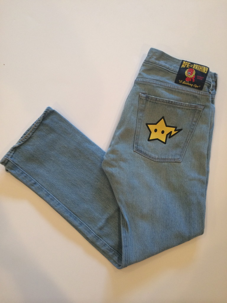 A Bathing Ape Light Blue Japanese Denim Jeans Size Small  ca4098cdc158