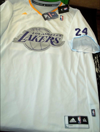 Los Angeles Lakers 2013 NBA big logo christmas jersey
