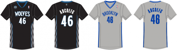 "Minnestoa Timberwolves & Brooklyn Nets ""Dodgers Tribute"" Alternate Jerseys"