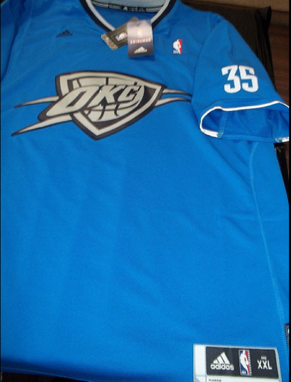 Oklahoma City Thunder 2013 NBA big logo christmas jersey