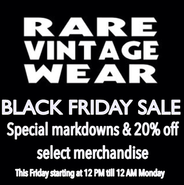 Rare Vintage Wear Black Friday Sale