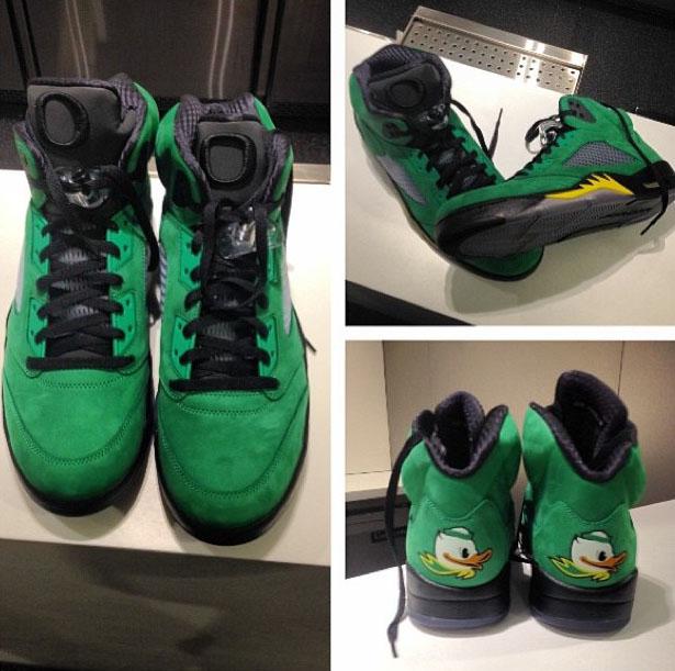 49e3134331c Air Jordan V Oregon Ducks Edition Surfaces Amongst Oregon Sneaker ...
