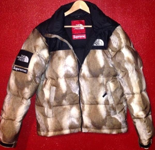 supreme x the north face 2013 mink coat