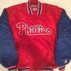 vintage philadelphia phillies starter satin jacket