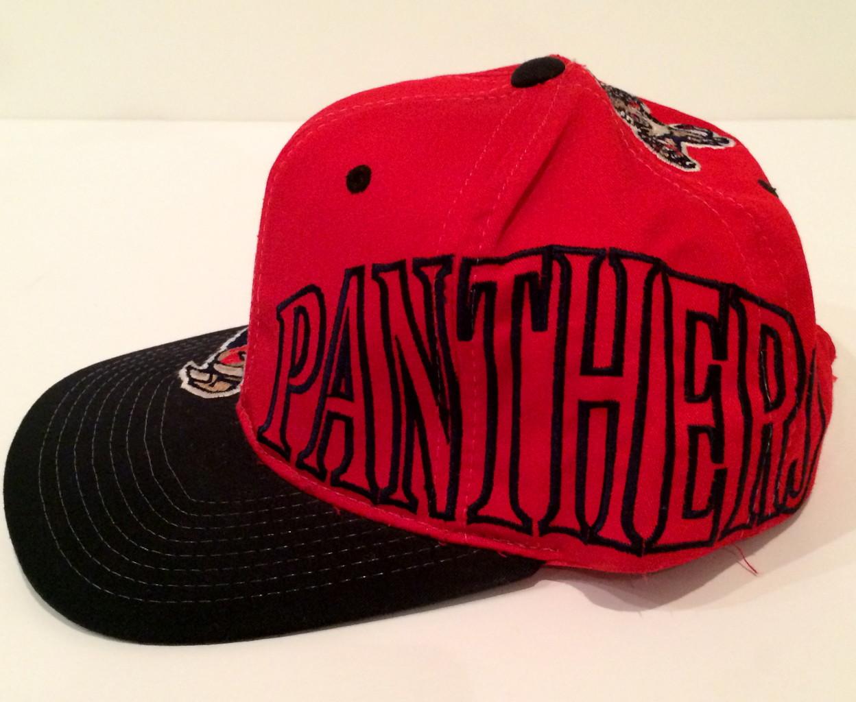 71e91b3d florida panthers nhl starter snapback. back of vintage starter snapback hat