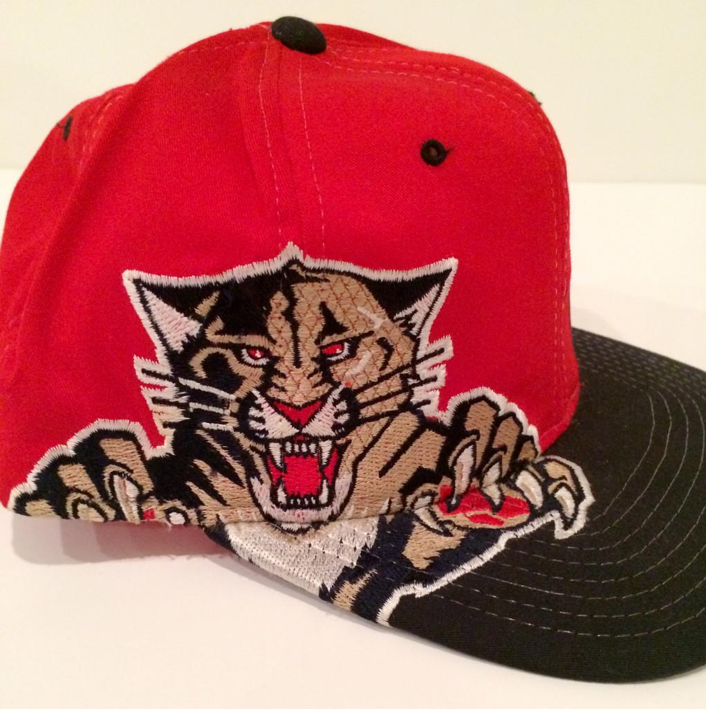 b5c343d5 Vintage Florida Panthers Starter Big Logo NHL Snapback Hat   Rare Vntg