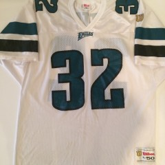 1996-1997 philadelphia eagles ricky watters nfl football jersey