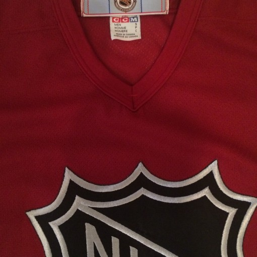 vintage nhl all star jersey maroon silver
