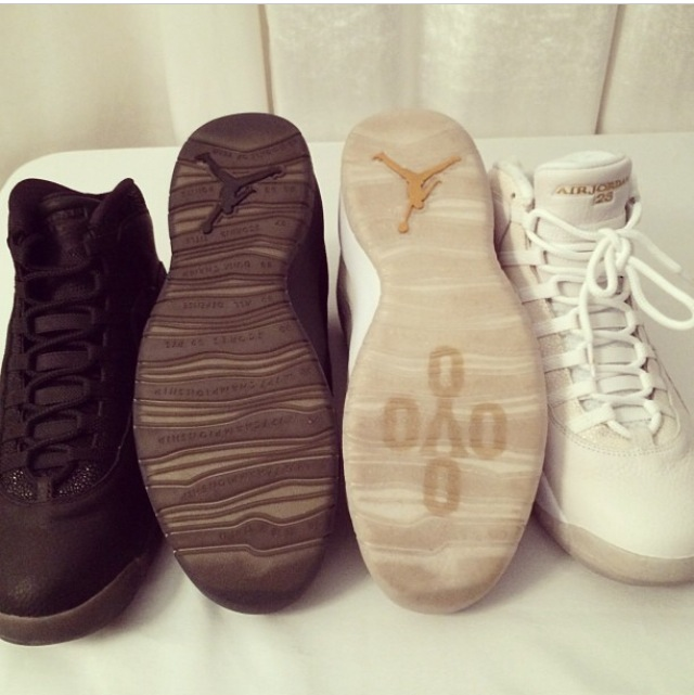 Drake's Air Jordan 10 Retro OVO Stingray Edition
