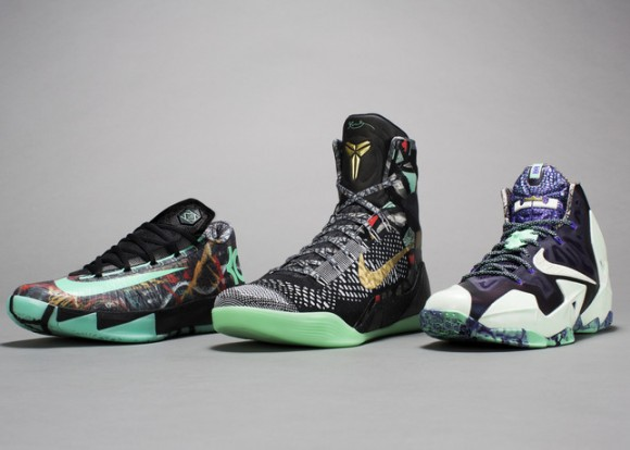 2014 NBA All Star Game Sneakers Kobe lebron durant