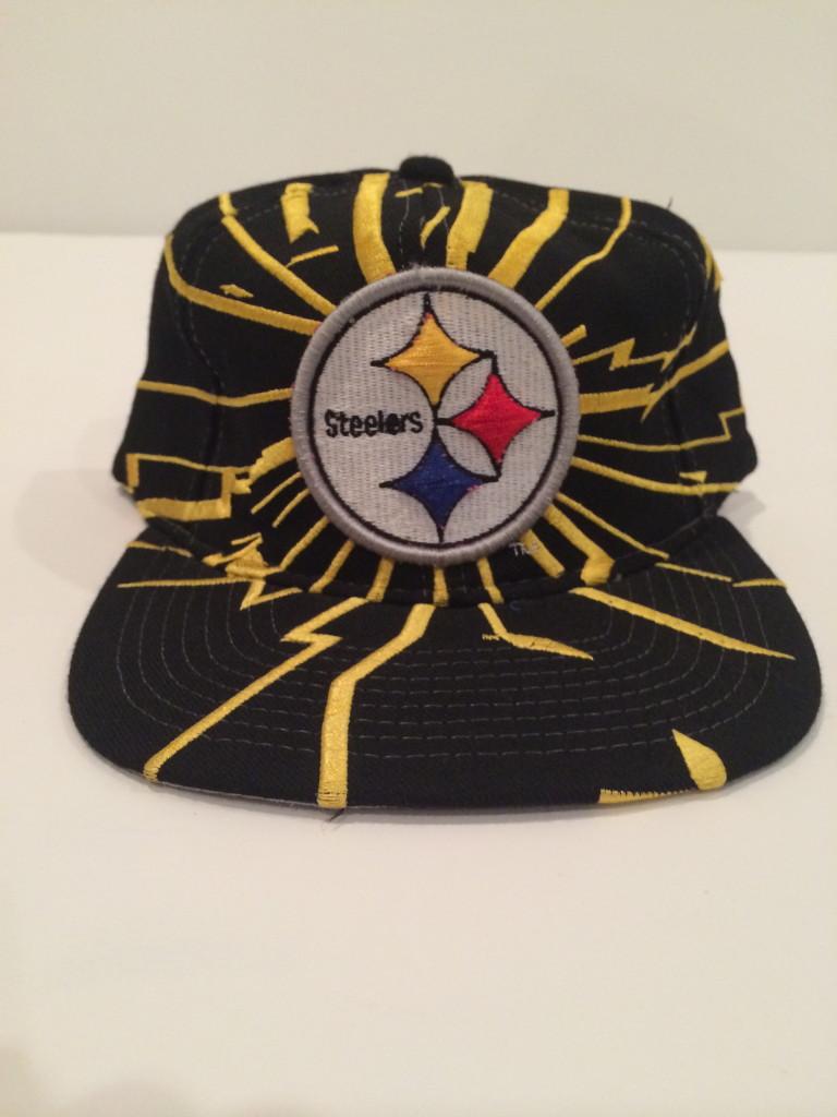 cf603758 Vintage Pittsburgh Steelers Starter Collision Shatter NFL Snapback Hat