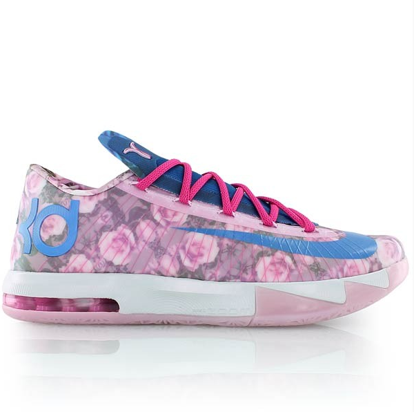 check out kevin durant u2019s floral nike zoom kd 6  u201caunt pearl u201d edition