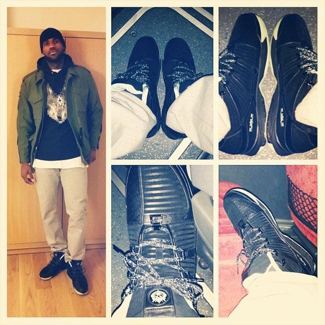 James sporting the Nike Zoom Lebron III Retro